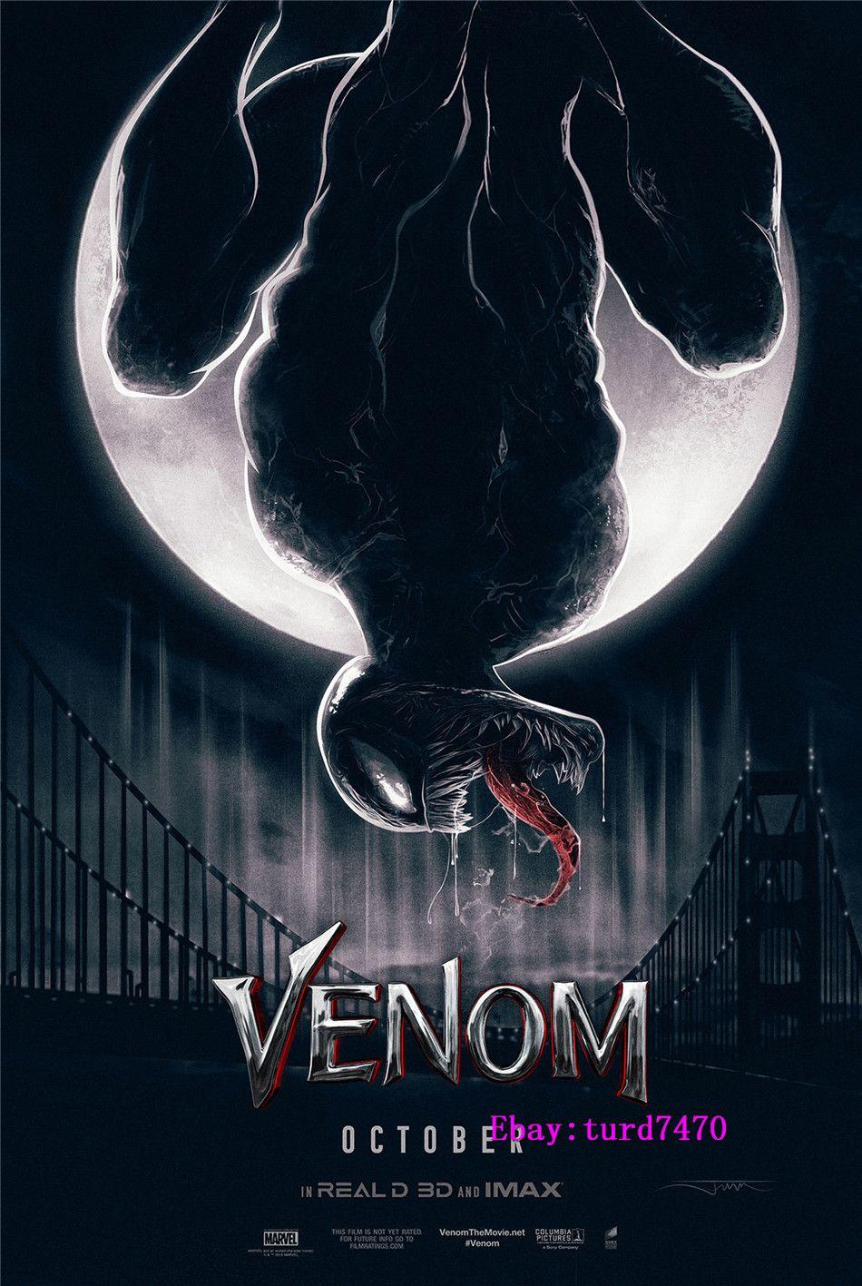 Venom Marvel Movie Art Silk Cloth Poster Print 13x24 inch