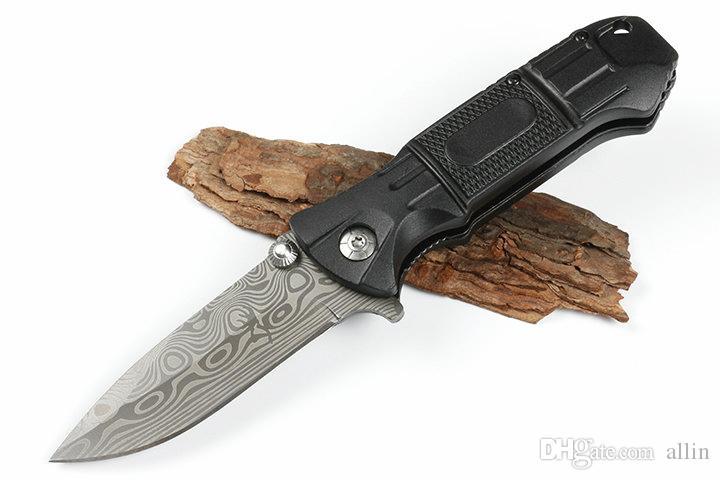Damla Nakliye Flipper Katlama Bıçak 440C Damlama Noktası Lazer Desen Blade Alüminyum Saplı Açık Survival Katlanır Bıçaklar