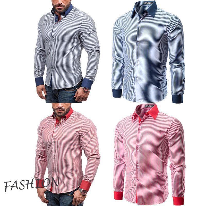 Мужские рубашки Европа размер новые поступления Slim Fit мужская рубашка сплошной длинный рукав британский стиль хлопок мужская рубашка