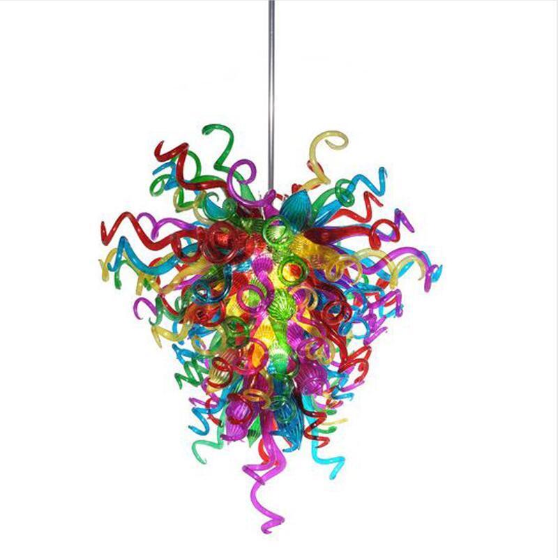 Tiffany Lamps LED Ceiling Light Fan Home Decorative Edison Bulbs Murano Colored Glass Chian Chandelier Light