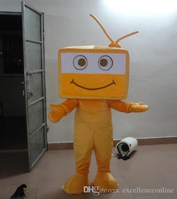 MASCOT CITY Laranja TV traje da mascote personalizado kits anime mascotte fancy dress traje do carnaval