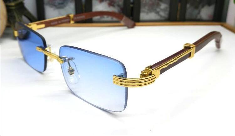 Cornice Nuovi occhiali da sole da sole Donna Sport sportivi in legno con lente retrò e argento occhiali da sole quadrato quadrato polarizzato in oro VRTTIM
