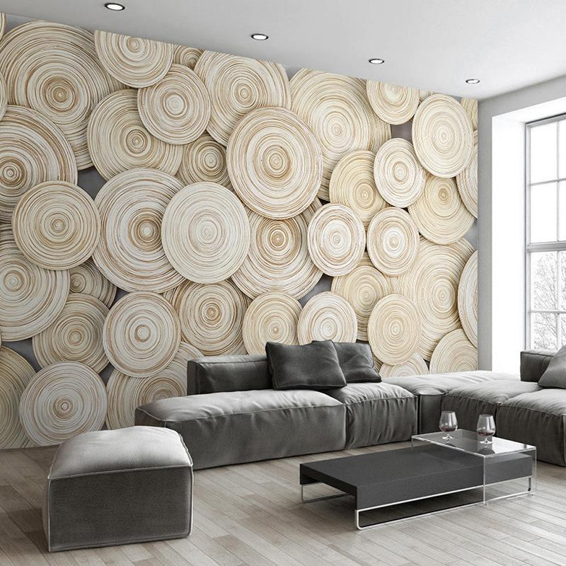 Large Custom Mural Wallpaper Modern Design 3D Wood Texture Living Room TV  Background Wall Decorative Art Wallpaper Wall Covering Hi Def Wallpapers
