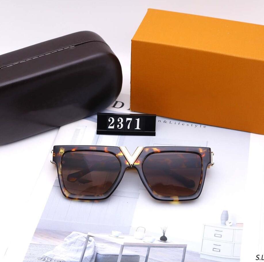 Sıcak Satış Erkek Kadın Güneş Tasarımcı Güneş Man Yaz Gözlüğü Gözlük UV400 V Harf 2371 5 Renk Kutusu Üst Kalite