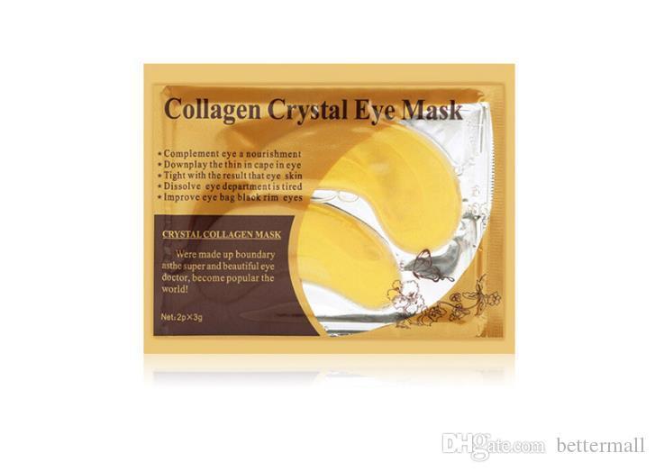 Kollajen kristal göz maskesi altın göz bakımı makyaj koyu daire kozmetik kaldırmak göz çantası siyah jant gözler DHL Ücretsiz