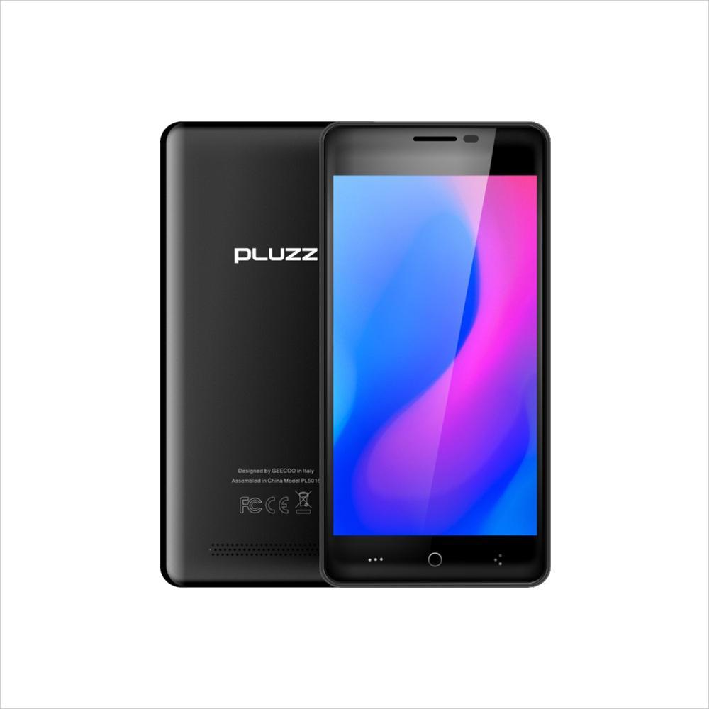 Разблокирована Dual Sim Поддержка карт Google Play Android мобильного телефона Оригинальный Pluzz Quad Core Android 7,0 Нет камеры 1GB + 8GB WIFI 5,0 '' смартфон
