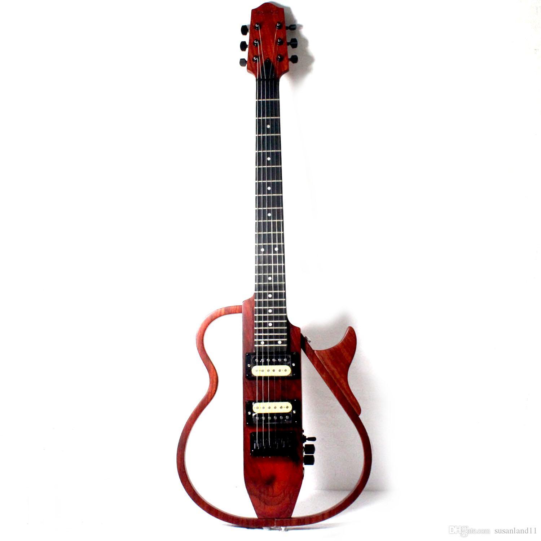 Musoo Marka taşınabilir seyahat elektro gitar ile ayrılabilir vücut