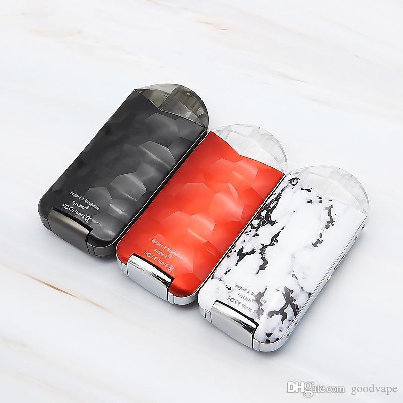 Nouveau coloré E-cigarette Pod Vape Kit 2.0ml atomiseur vaporisateur 500mAh batterie rechargeable Portable plusieurs utilisations plus léger DHL gratuit