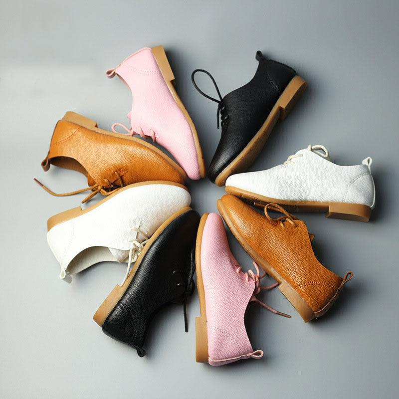 Babaya 2018 New Girls Boys Casual Leather Shoes Baby Girls Party Dancing Shoes Little Boys Kids School Uniform Shoes V9 Y190525