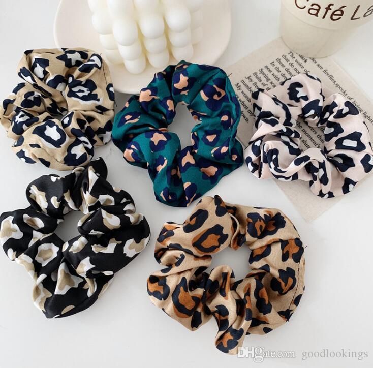 Mode femme léopard des bandes de cheveux bandes de cheveux Chouchous mignon modèle animal fille Tie Accessoires Ponytail de Holder