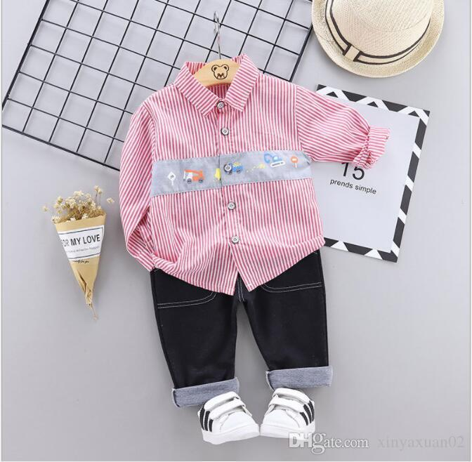 2019 New best-selling autumn and winter children's wear autumn boy trousers two sets baby clothes factory direct sales