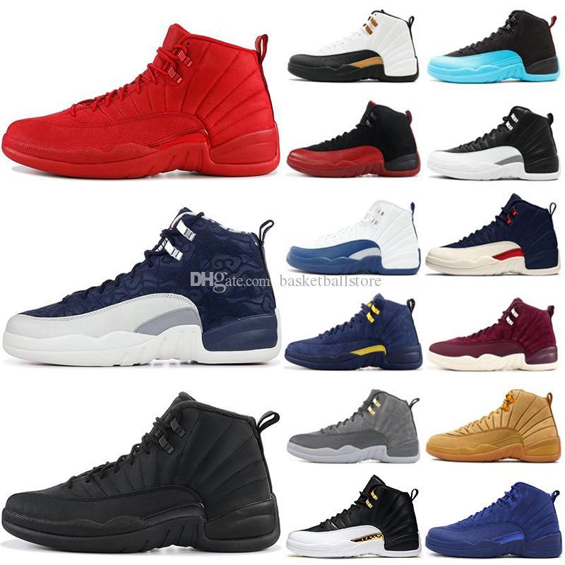 Diseñador Nike Air Jordan 12 Retro 12s Para Hombre Zapatillas De Baloncesto  Zapatillas OVO Blanco Gimnasio Rojo Gris Oscuro Mujeres Zapatillas De ...