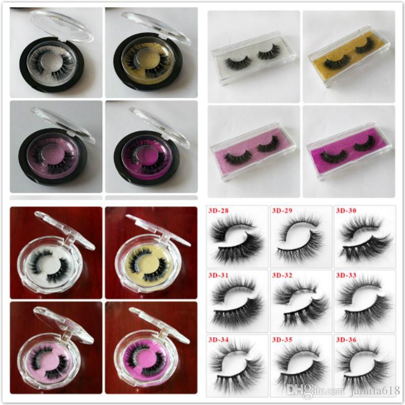 Wholesale Beauty Cosmetics 3D Mink Hair Lashes Natural Long False Eyelashes 3D lashes Fake Eyelashes Make Up Eyelash Extension Tool 76 style