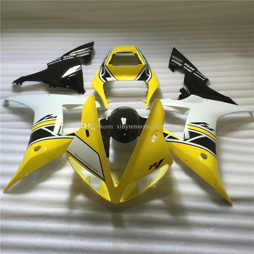 Neues heißes manuelle Form Verkleidungen für yamaha YZFR1 02 03 Jahre Verkleidung Kit YZFR1 2002 2003 OT41