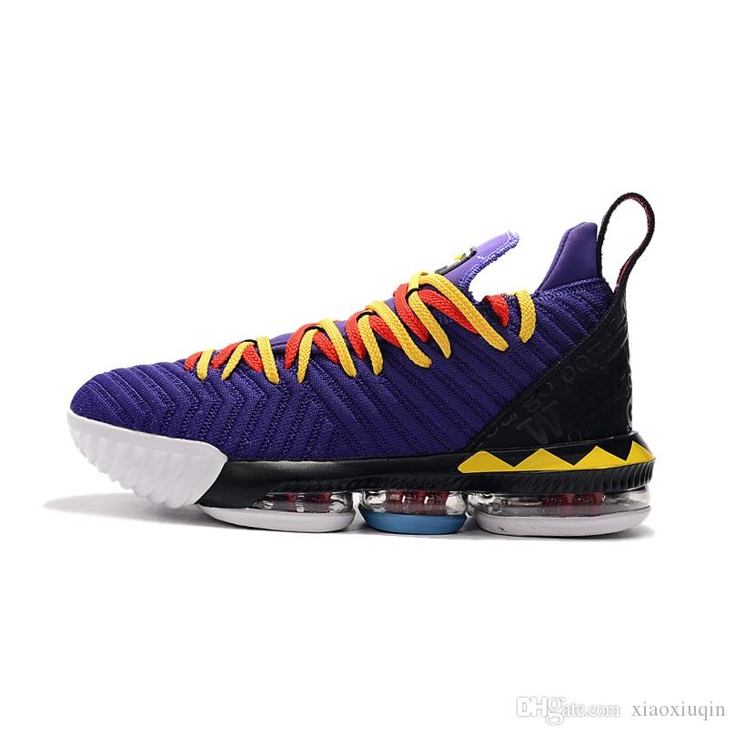 cheap mens lebron 16 basketball shoes new Martin Purple Heritage Wolf Grey Four Horsemen youth kids lebrons sneakers tennis with box size