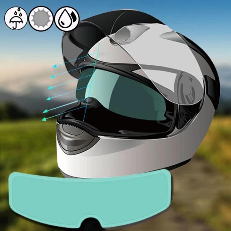 Anti-fog Lens Stickers General-purpose Electric Vehicle Helmet Visor Waterproof Film Motorcycle Helmet Lens Film 23.5x7cm 1PC