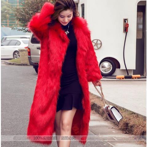 Clobee Женщины искусственного меха Пальто 2019 Женские зимние из искусственного меха Пальто Ледис Теплый Пушистый Полный Рукав Outwear Теплые куртки M747
