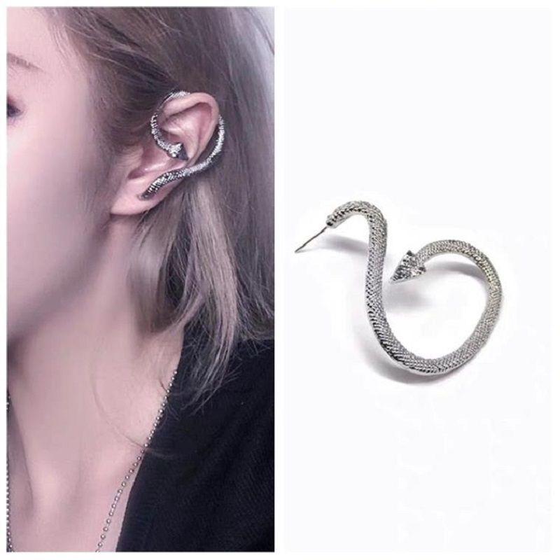 KingDeng Snake Stud Earrings Women Fashion Personalized Punk Hyperbole Gothic Jewelry Unisex Party Alloy Animal Hip Hop