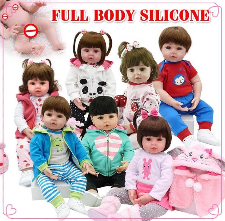 vendita calda tenuta d'acqua giocattolo del bagno rinato bambole del bambino rinato bambino silicone corpo pieno bebe bambole reborn realistica regalo soft touch Giocattoli bambini