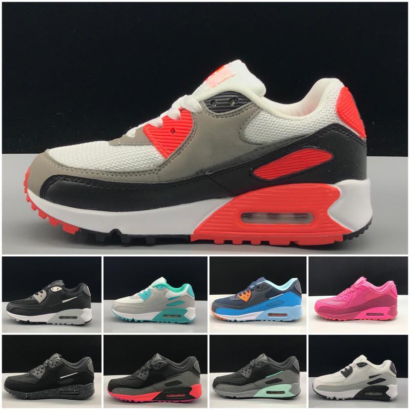 Nike air max 90 2020 New Mode Chaussures Enfants Bébé enfant en bas âge Classique Enfants Sport Sneaker en plein air Chaussures de marche Eur 28-35