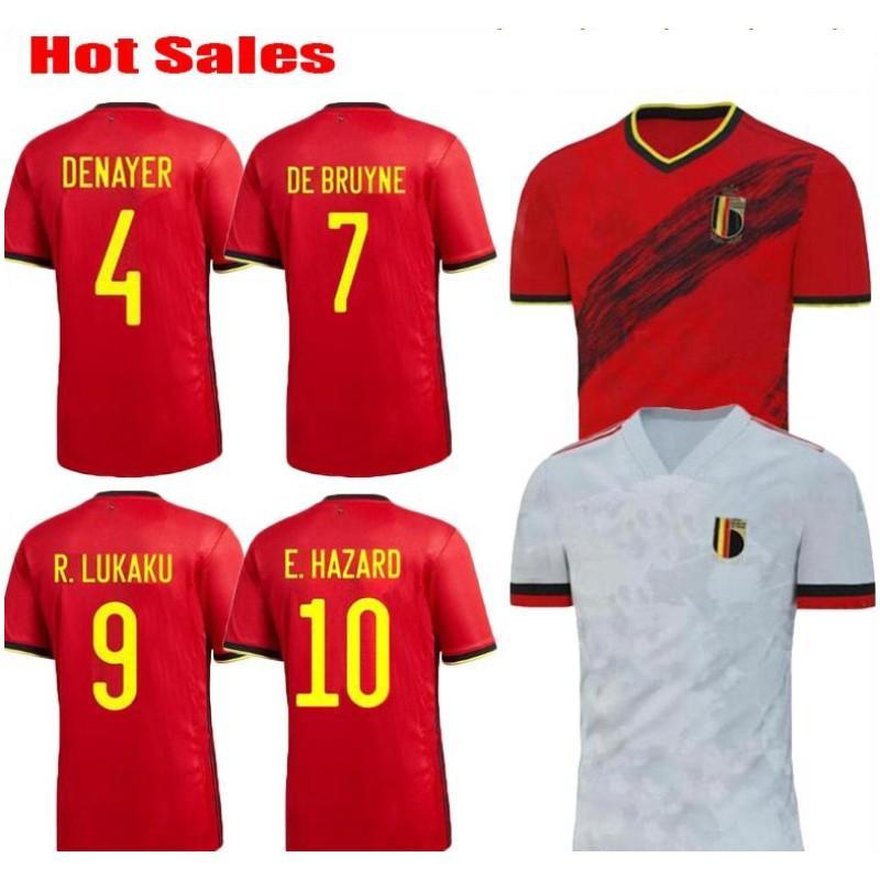 Belgique 2019 2020 Accueil KOMPANY DE RISQUE Lukaku BRUYNE MERTENS Soccer Jersey 19 20 homme adulte et enfants kit chemise de football de sport
