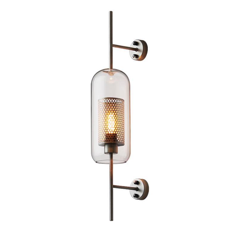 Industrial Loft bronzo lampada da parete Retro luce della parete di vetro Camera Ristorante Studio lato delle lampade Illuminazione arte WA122