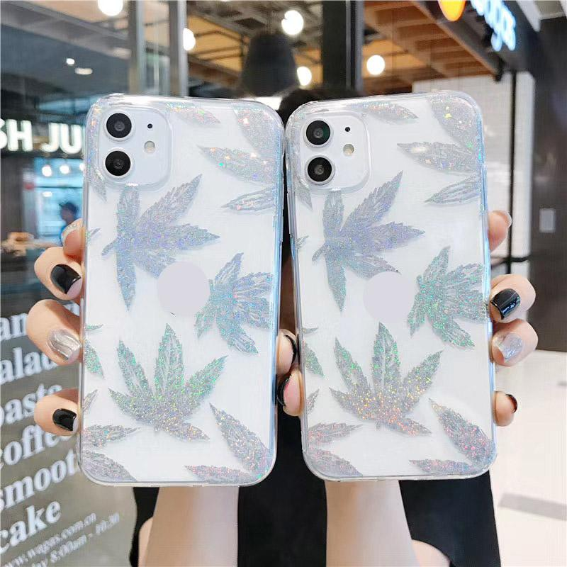 Rose Gold Plating Art Leaf Phone Case For iphone 11 11Pro Max XR X XS Max 7 8Plus Plant Tree Clear Back Cover