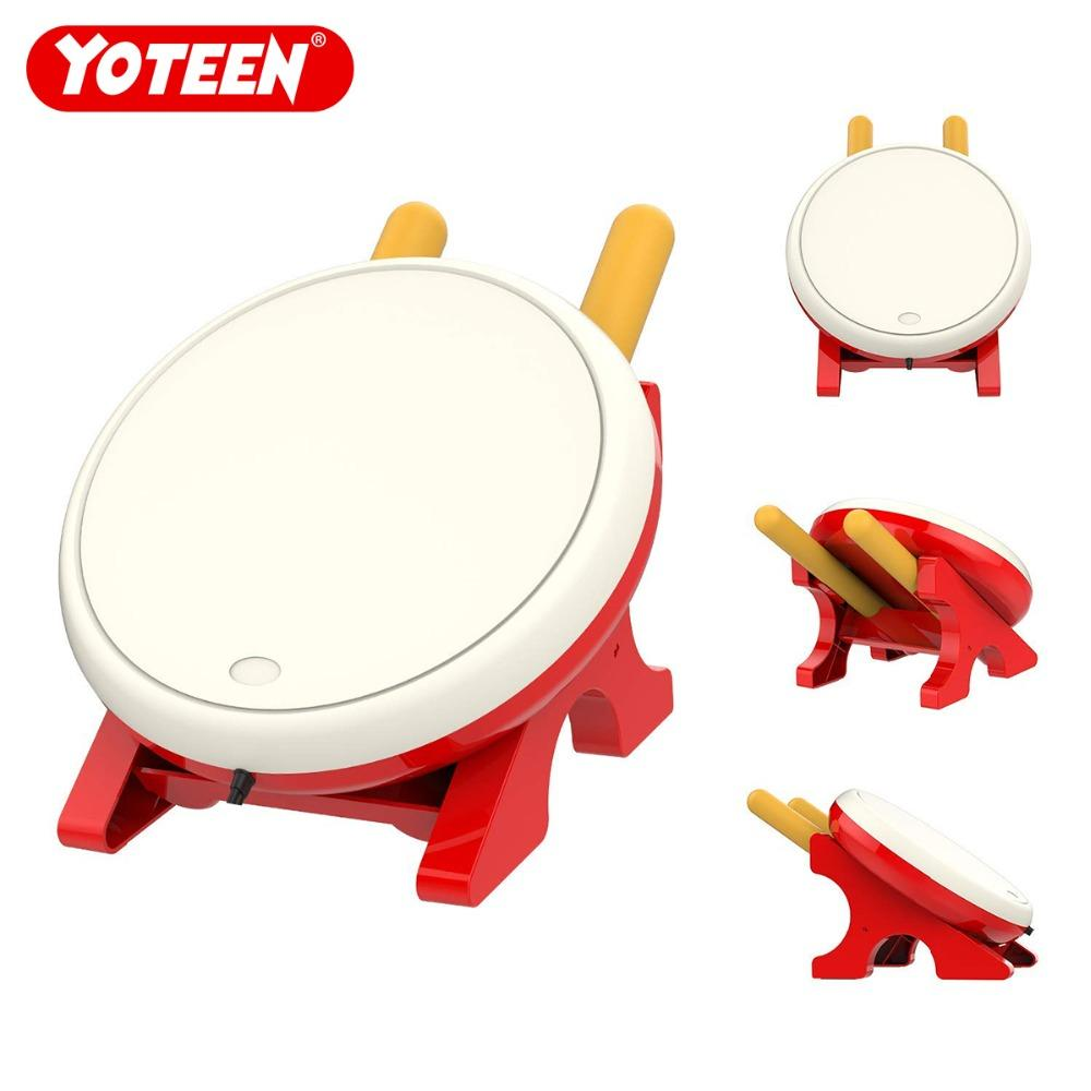 Yoteen Drum Controller لـ Nintendo Switch لعبة فيديو Drum Master Controller Motion Sensing Game Taiko Drum Master Accessories