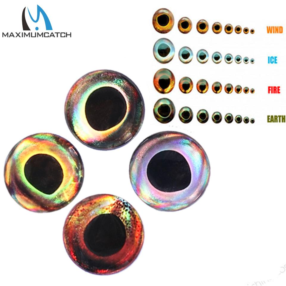 Sports & Entertainment Maximucatch 4D Fishing Lure Eyes Fly Tying Material Fish Eyes Fishing Lure Making 3mm-15mm 24-252 pieces