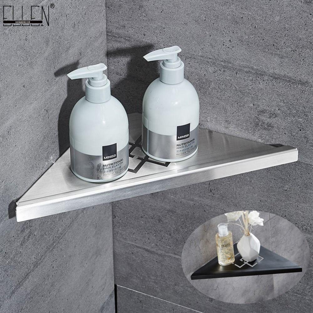 욕실 Corner 선반에 의하여 솔질되는 니켈 304 스테인리스 강철 벽 욕실 선반 샤워 스토리지 욕실 액세서리를 선반 ELF41T200319