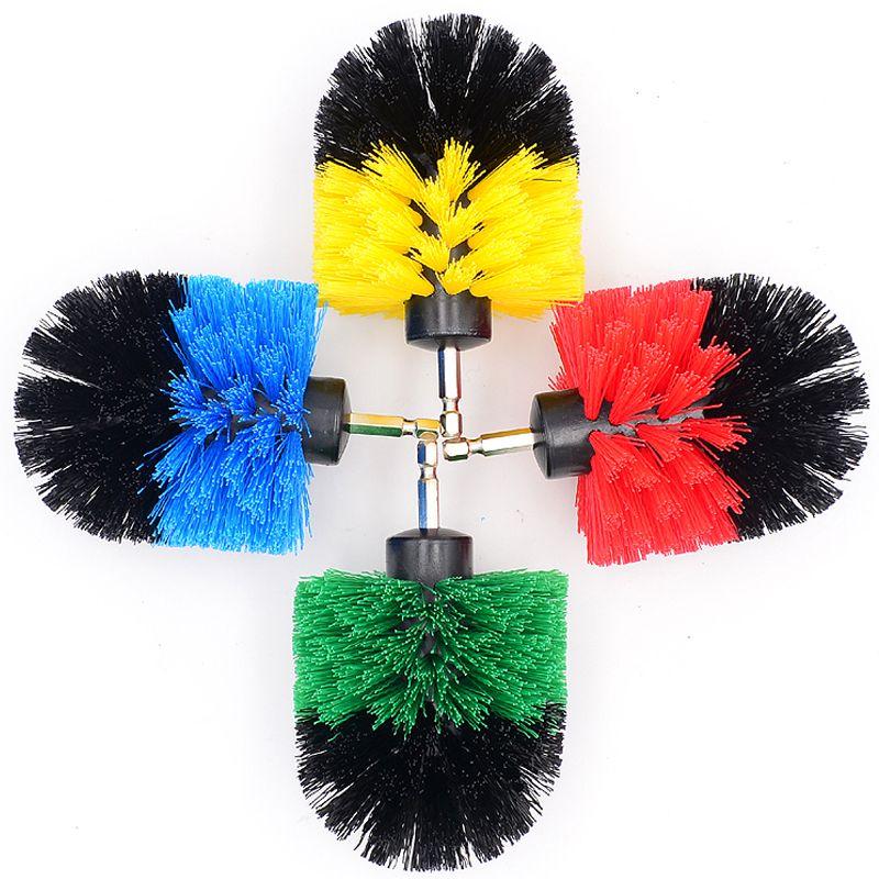 Voiture électrique Drill Brosse à billes en plastique fil récurage Brosses pour les pneus ESTHÉTIQUES Jantes Moteur de lavage Accessoire nettoyage