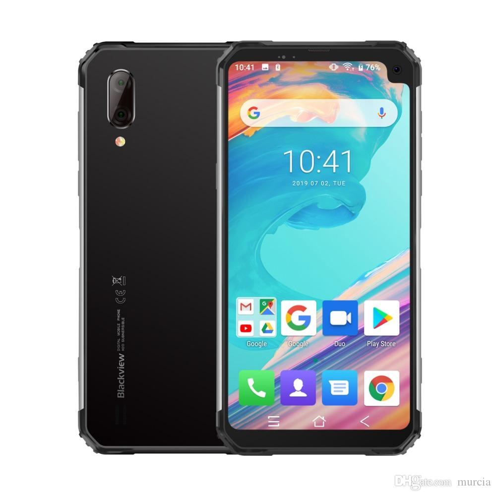 Blackview BV6100 IP68 Waterproof Mobile Phone 6.88 inch 3GB+16GB MT6761 Quad Core Android 9.0 5580mAh NFC Rugged Smartphone