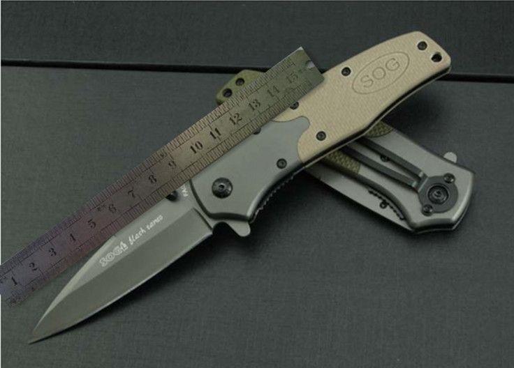 SOG.KS931A cuchillo (versión piedra y acero) camping caza salvaje libre de regalo
