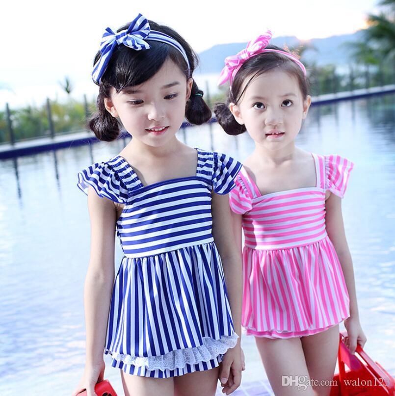 أزياء الأطفال الفتيات لطيف طفل رضيع ملابس السباحة شريطية المايوه البيكيني صيف جديد الشحن مجانا