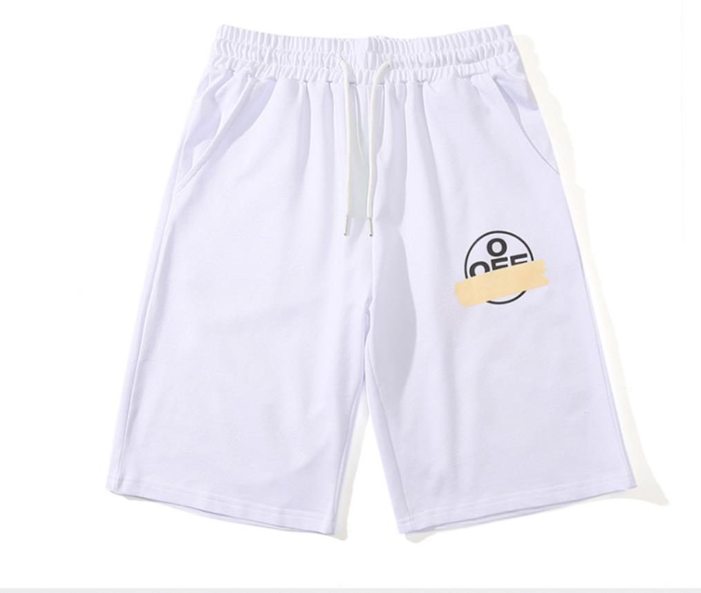 off European and American tide brand bronzing tape arrow men and women summer loose shorts M-XXL