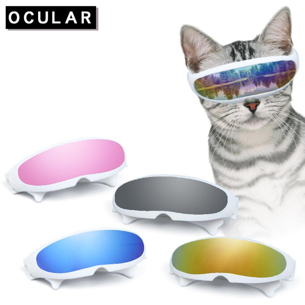 New Cool Dog Cat Glasses for pet products Eye-wear Protection reflective Pet Sunglasses Photos Props Accessories Cat Glasses