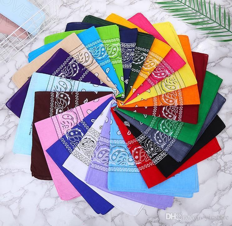 100% Cotton Paisley Bandana Double Side Head Wrap Scarf Wristband free shipping