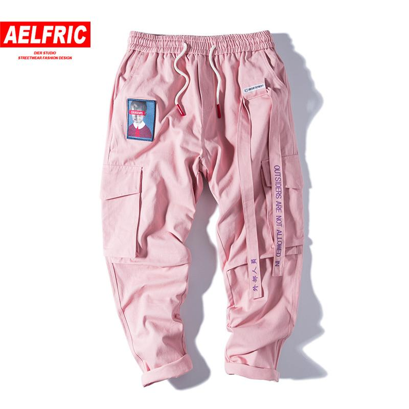 Aelfric Hip Hop Sweat Pants Embroidery Japanese Style Trousers Sweatpants Streetwear Joggers Track Casual Cargo Pants Women Men T200104