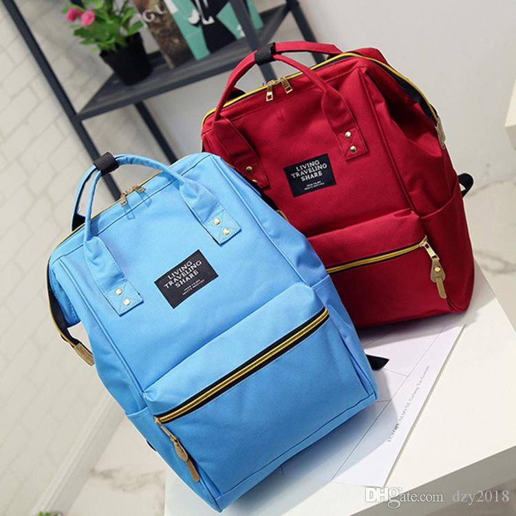 New Canvas School Bags Casual Famous Designer Backpack for Women Girls Lady Handbag