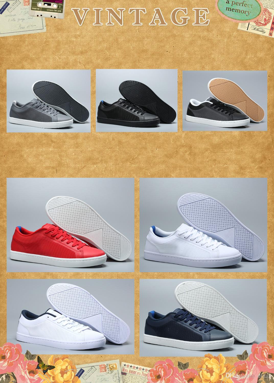 hohe Qualität Krokodil Marke Männer Schuhe Freizeitschuhe Mode Turnschuhe Luxuxentwerfer Turnschuhe Lacos Großhandel verursachende Schuhe original box Netz
