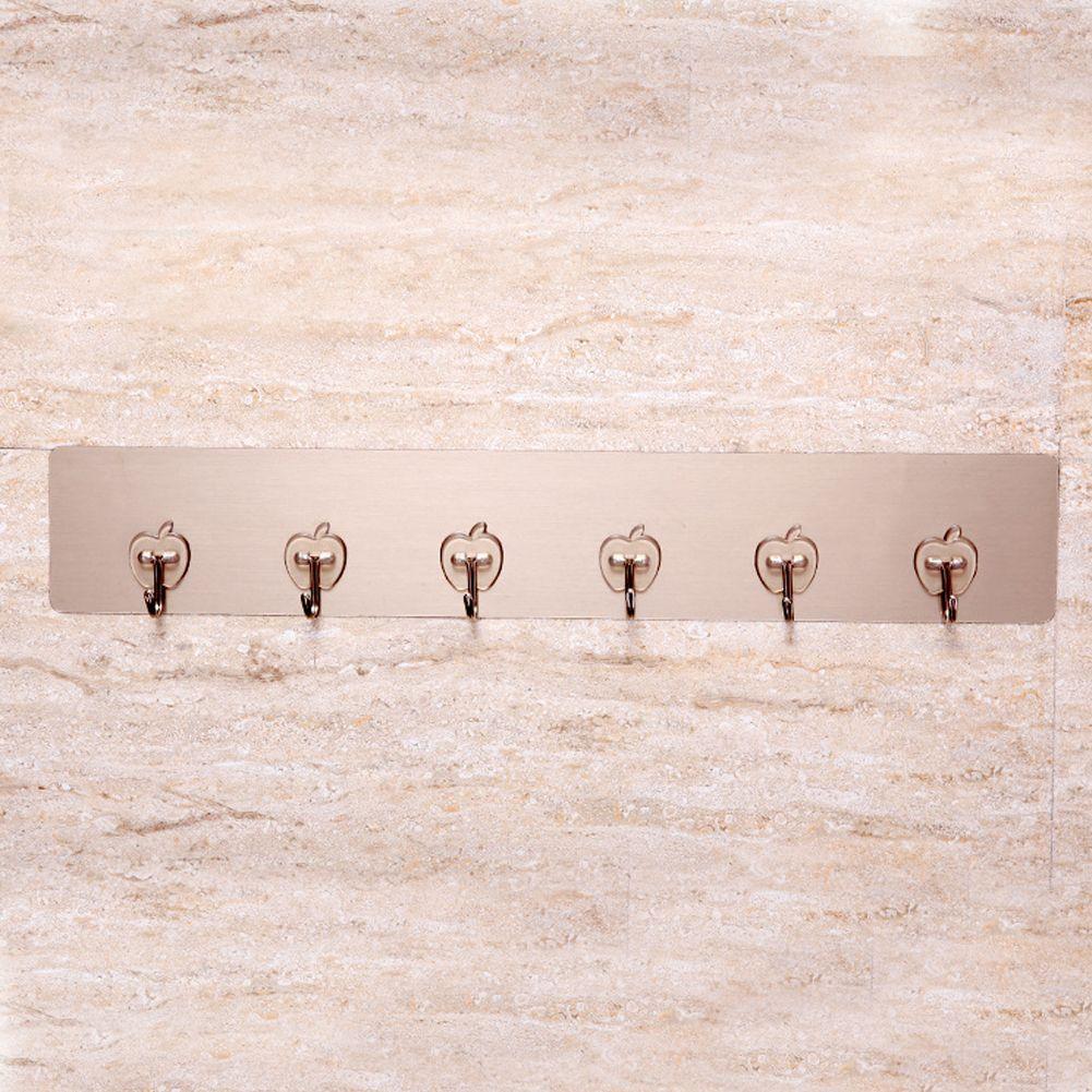 Wall Mounted 3-6 Hooks Holder Clothes Coat Rack Hat Towel Door Hanger Bathroom