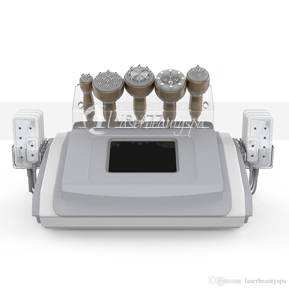 Alta qualidade 6 em 1 Perda cavitação 40K Peso emagrecimento máquina de vácuo RF Facial Pele Steamer de beleza para Spa Uso Doméstico