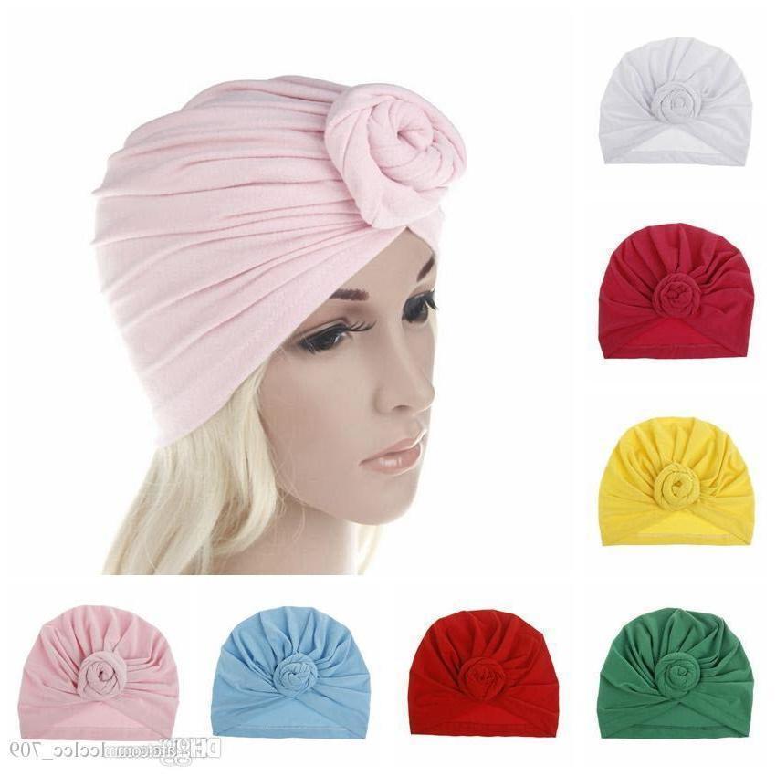 حار بيع أمي الأعلى عقدة العمامة قبعة النساء لينة العمامة خمر نمط الرجعية سيدة مواليد بنات رئيس التفاف