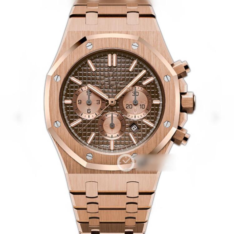 JH diseñador de relojes de lujo reloj 41mm 26331 7750 movimiento mecánico totalmente automático Montre de luxe fina correa de acero