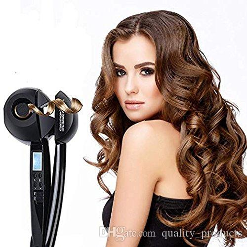 Hair Curler Professional Hair Steam Curlers Auto Curl Ceramic Curling Iron Wand Salon Rollers Hair Care Steamer Spiral Toolsblack Curling Irons For