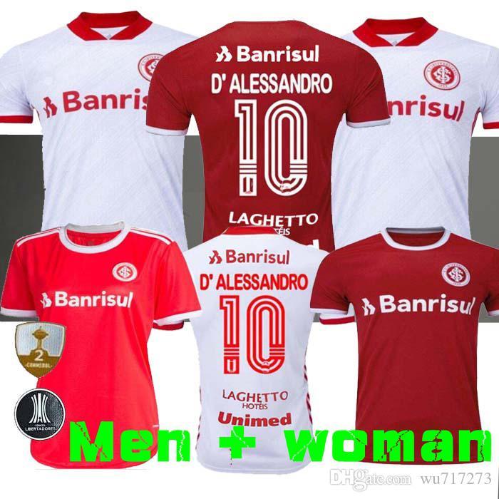 2019 2020 SC Internacional Home Soccer Jersey Brazil Football Shirt 20 21 Fernandao d'Alessandro قميص كرة القدم بعيدا جيريرو