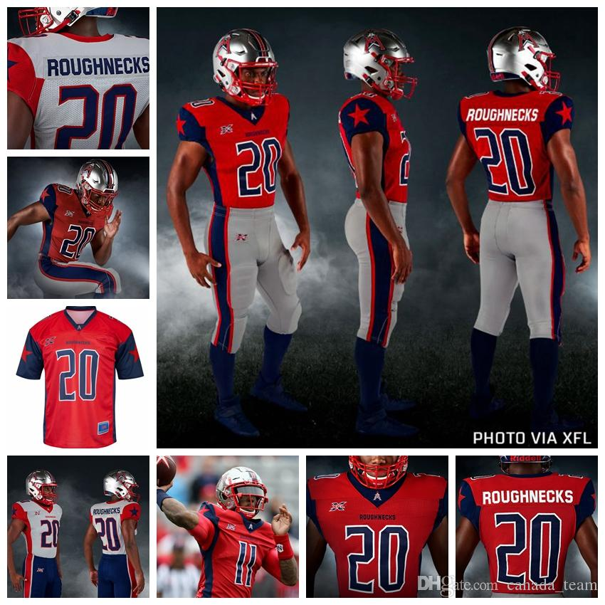 XFL Roughnecks Maillots Phillip Walker Jersey Connor Nick Cook Holley Andre Williams Marquez Williams New Jersey Football personnalisé Cousu