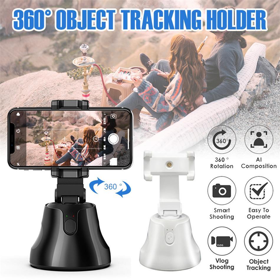 Taşınabilir Hepsi-bir-arada Oto Smart Rotasyon Oto Yüz İzleme Nesne Takip Kamera Telefon Tutucu Selfie'nin Çubuk 360 Derece Çekim