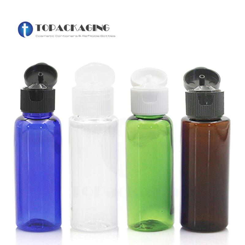100PCS * 20ML flip bouchon à vis petite bouteille d'huile essentielle Sérum Shampooing réutilisable vide Maquillage Emballage plastique récipient cosmétique
