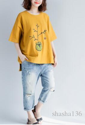 Camiseta de manga corta impresa para mujer del diseñador para mujer de verano para el verano Negro Blanco Camisetas transpirables Tamaño de la UE Ropa de gran tamaño para mujer